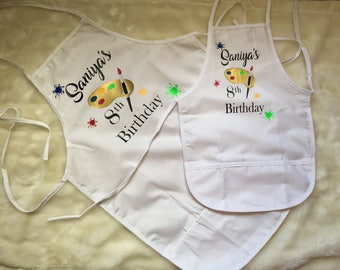 Personalized Artist Apron-Perfect for birthdays and more
