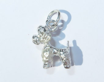 925 Genuine Silver Poodle Dog Charm - 92.5% Sterling Necklace Weddings Christening Bride Bridesmaid 21st 16 Birthday Gift Graduation Puppy