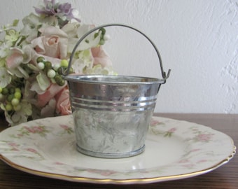 Mini buckets, Mini Pails, Succulent Containers, Craft Pails, Party Favor Containers, Small Flower Planters, Craft Buckets