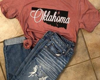 Oklahoma shirt, Oklahoma t shirt, Oklahoma tee, State shirt, Oklahoma pride shirt, Okie t shirt, Oklahoma