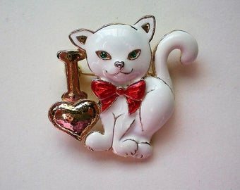 I Love Cats Enameled Pin - 5261