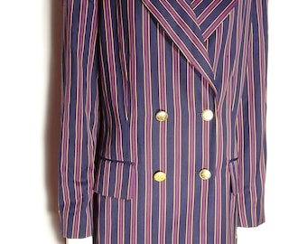 Laurel oversize striped Double breasted blazer size 44