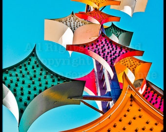 Las Vegas Art, Stardust Neon Sign, Neon Boneyard, Star Art, Star Sign, Retro Neon Stars, Multi Color Stars, Art Print