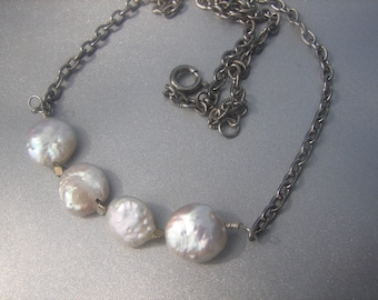 Coin Pearl Necklace 260.