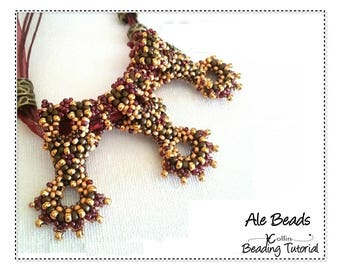 Curved CRAW Seed Bead Jewelry Tutorial Beading Pattern Shaped Slider Spacer Beads Beaded Elements Beading Instructions Tutorial ALE BEADS
