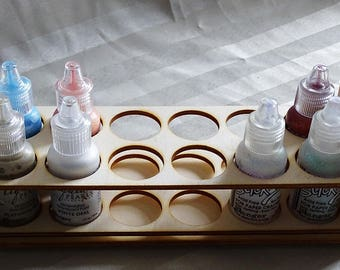 Storage of your flasks 1301 a cut out of wood for your creation