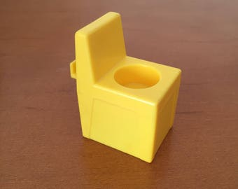 Vintage Fisher-Price Little People Lifeguard Chair for Swimming Pool - Yellow