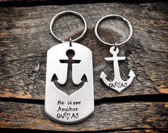 Christian gift for men, christian gift for women, christian couples gift, jesus gift, god gift, anchor keychain, religious keychain gift