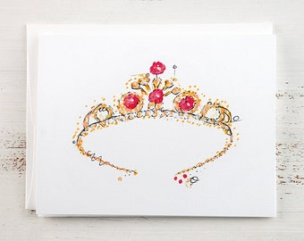 Tiara Note Card