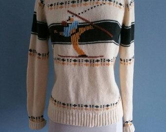 Vintage novelty ski sweater.