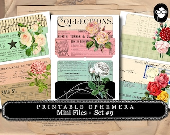 Bouquet Clipart - Mini Files Set #9 - 3 Page Instant Download - ephemera pack, altered art kit, junk journal kit, blank journal cards