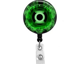 Green Lantern - Badge Reel Retractable ID Badge Holder