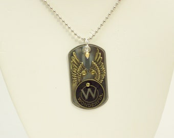 Wonderful Riveted Dog Tag Necklace