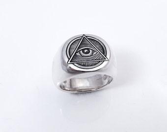 Signet ring Illuminati - Silver