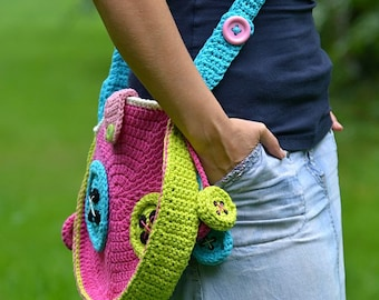 Crochet Buttons Bag - crochet pattern, DIY