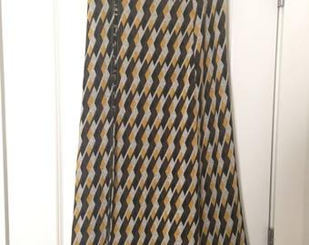 REPURPOSED Long, printed Skirt