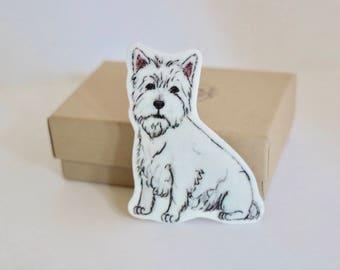 West Highland Terrier Brooch