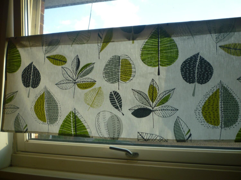 Lime grün grau Vorhang Volant Floral moderne Cafe Vorhang Rod