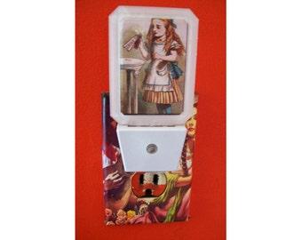 Alice in Wonderland night light retro vintage fairy tale Victorian bathroom lamp