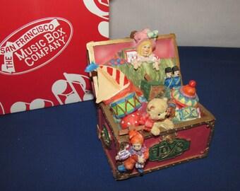 TOYLAND Toy Chest Music Box San Francisco Music Box Company