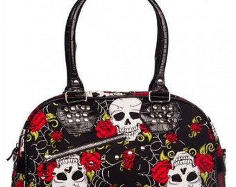 GOTHIC Skulls and Roses Print BAG