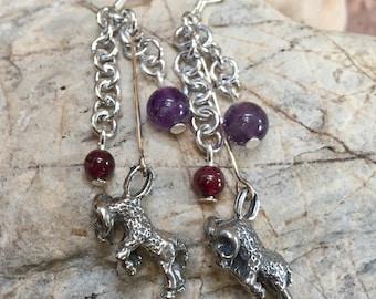 Aries gemstone earrings