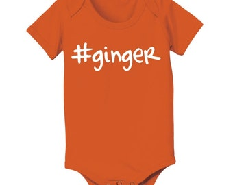 Hashtag  Ginger Irish St Particks Day Baby Outfit Baby One Piece DT0262