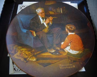1982 edwin m knowles the tycoon collectos plate