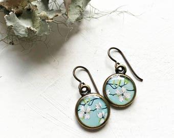Dogwood Earrings, Hypoallergenic Earrings, Flower Jewelry, Dogwood Jewerly, Handmade Spring Finds