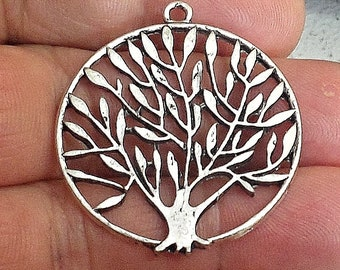 one large tree of life pendant Jewelry Findings. /M7