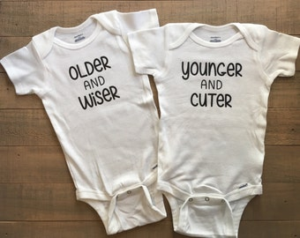 Twins, Twins Baby Gifts, Twin Babies, Twin Baby Shower, Twin Baby Clothes, Twin Outfits, Baby Twins, Funny Twin Clothing, Funny Twin Outfit