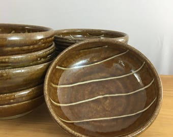Bowls. Wood fired Salt glazed