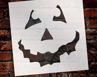 Halloween - Pumpkin Face Art Stencil - Select Size - STCL761 - by StudioR12