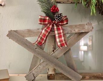 Rustic Wood Star, Christmas Wood Star, Reclaimed Wood Star, Repurposed Wood Star