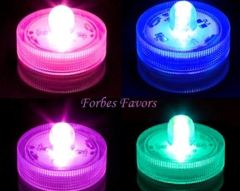 40 LED Blue, Purple, Teal or Pink Waterproof Submersible Lights for Centerpiece Wedding Special Occasion