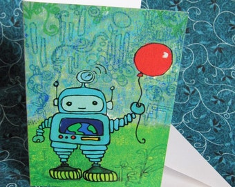 Robot and Red Balloon