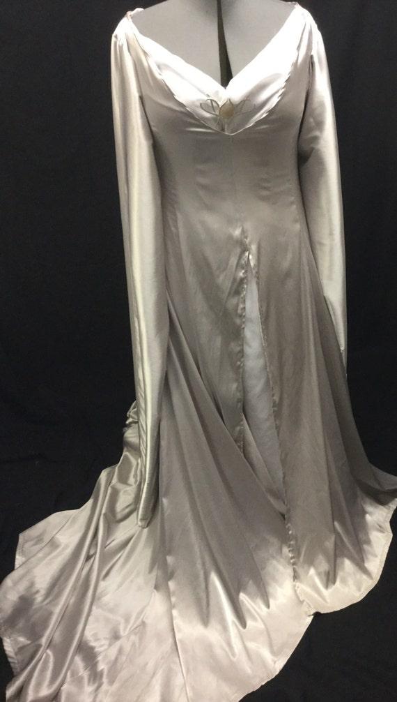 Herr der Ringe Hobbit Elfenkönigin Galadriel Kleid Kleid