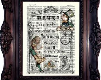 Alice In Wonderland Print Alice In Wonderland Decoration Alice