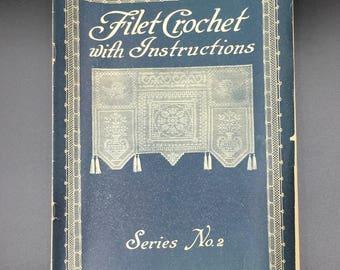 Filet Crochet with Instructions Vintage Booklet - (SW064ET)