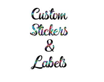 Custom Stickers, Custom Labels, Custom Product Labels Personalized Stickers Personaized Labels, Large Labels, Personalized Stickers