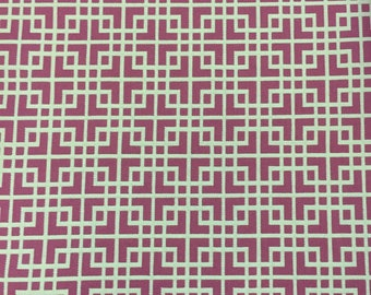 Pink Blossom Interlocking - Upholstery Fabric by The Yard