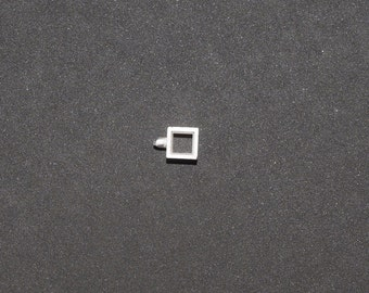 5mm | Square Rubover Setting | Faceted Stones | Recycled Silver | Bezel | NU74
