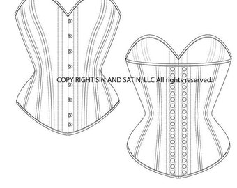 Curvy Overbust Corset Size 19'-28""