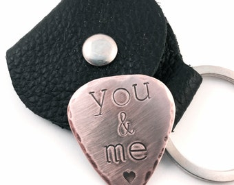 You & me - Copper Guitar Pick - Father's Day - Gifts for Him -  Music Lover -