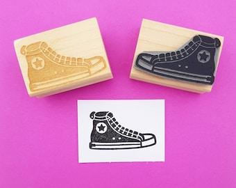 Basketball Boot Rubber Stamp by Skull and Cross Buns - Baseball Boot Stamp - Gift for Baseball Fan - Basketball Gift - Shoe Stamper