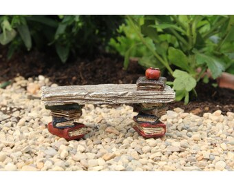 My Fairy Gardens  Mini - Library Bench - Miniature Supplies Accessories Dollhouse