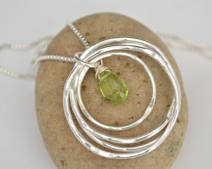40th Birthday gift for sister, 40th Birthday gift for women, Sisters necklace, 4th Anniversary gift, Peridot necklace,August birthstone neck