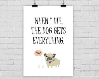 fine-art print poster LAST WILL DOG