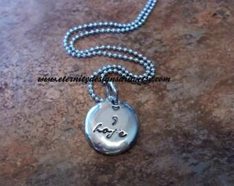 Personalized Semi Colon Necklace, Hope Necklace