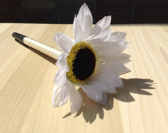 Sharpie Pen for Wedding Guestbook /Flower Sharpie Pen/ custom pen